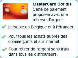 mastercard cofidis pour emprunteurs qui r sident en belgique. Black Bedroom Furniture Sets. Home Design Ideas